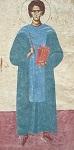 Όσιος Ιωάννης ο Καλυβίτης - Εικόνα από τον Προαύλιο Χώρο της Ιεράς Μονής Αγίου Ιωάννη Καλυβίτη στα Ψαχνά Ευβοίας