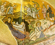 Η γέννηση του Χριστού - Δαφνί 11ος αι. μ.Χ.