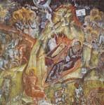Η γέννηση του Χριστού - Τοιχογραφία στη νότια πτέρυγα της Παντάνασσας Μυστρά
