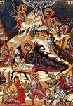 Η γέννηση του Χριστού - Τοιχογραφία στην εκκλησία του Σταυρού του Αγιασμάτι στο χωριό Πλατανιστάσα. 15ος αιώνας μ.Χ.