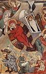 Η γέννηση του Χριστού - Τοιχογραφία στην εκκλησία του Αρχαγγέλου Μιχαήλ στο χωριό Βυζακιά. 16ος αιώνας μ.Χ.