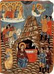Η γέννηση του Χριστού - Φορητή εικόνα του Κύπριου ζωγράφου Παρθένιου, 19ος αιώνας μ.Χ.