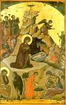 Η γέννηση του Χριστού - 1546 μ.Χ. - Mονή Σταυρονικήτα, Άγιον Όρος (Κρητική σχολή, Θεοφάνης ο Kρής)