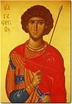 Άγιος Γεώργιος - Πιστό αντίγραφο εικόνας του Εμμανουήλ Τζάνε, του 17ου αιώνα μ.Χ. - Γεωργία Δαμικούκα© (http://www.tempera.gr)