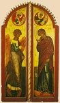 Ευαγγελισμός της Υπεραγίας Θεοτόκου - Βημόθυρα - Ιερό Χιλιανδαρινό Κελλί Μαρουδά, έργο Γεωργίου Μητροφάνοβιτς, 1653/4