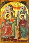 Ευαγγελισμός της Υπεραγίας Θεοτόκου - 1546 μ.Χ. - Mονή Σταυρονικήτα, Άγιον Όρος (Κρητική σχολή, Θεοφάνης ο Kρής)