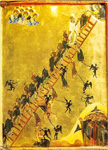 Η κλίμακα των αρετών - Μονή Αγίας Αικατερίνης Σινά 12ος αιώνας