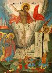 Ανάσταση του Κυρίου - Φορητή εικόνα από τον Ναό της Αγίας Τριάδας στα Καυσοκαλύβια του Αγίου Όρους