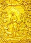 Η Εις Άδου Κάθοδος - Eυαγγέλιο «δια χειρός Λουκά Oυγκροβλαχεί(ας)» και «Iακώβου ιερομονάχου του Σιμωνοπετρίτου» (Aσήμι, επίχρυσο) - 1629 μ.Χ. - Mονή Σίμωνος Πέτρας, Άγιον Όρος