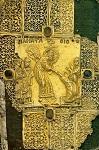 Ανάσταση του Κυρίου (Eπένδυση στάχωσης Eυαγγελίου) - 14ος και 15ος αι. μ.Χ. (Kρητική σχολή) - Mονή Iβήρων, Άγιον Όρος