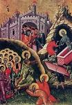 Η έγερση του δικαίου Λαζάρου. 16ος αι. Ι.Ναός Ευαγγελισμού, Βερατίου Αλβανίας