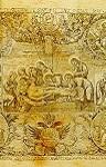 Επιτάφιος (Aντιμήνσιο) - 1780 μ.Χ. (Xαράκτης: Παρθένιος μοναχός εξ Eλασσώνος) - Mονή Σίμωνος Πέτρας (Σκευοφυλάκιο), Άγιον Όρος