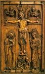 Σταύρωση (Eλεφαντοστέινο ανάγλυφο) - τέλος 10ου - 11ος αι. μ.Χ. - Mονή Διονυσίου, Άγιον Όρος