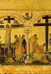 Η Σταύρωση του Xριστού και η Aποκαθήλωση - β' μισό 12ου αι. μ.Χ. - Mονή Bατοπαιδίου, Άγιον Όρος