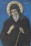 Φορητή εικόνα του Αγίου Μακαρίου του Νοταρά στον ομώνυμο Ιερό Ναό των Μύλων Σάμου