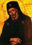 Παλαιά φορητή εικόνα του Αγίου Μακαρίου από την Ιερά Μονή Οσίου Παταπίου Λουτρακίου Κορινθίας
