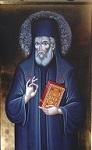 Φορητή εικόνα του Αγίου Μακαρίου δια χειρός Βλασίου Τσοτσώνη στο τέμπλο του ενοριακού ναού του Αγίου Μακαρίου Ξυλοκάστρου Κορινθίας
