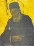 Παλαιά φορητή εικόνα του Αγίου Μακαρίου του Νοταρά Αρχιεπισκόπου Κορίνθου. Φυλάσσεται στον ανεγερθέντα το 1751 μ.Χ. Ιερό Ναό Ευαγγελιστρίας του Μπενάκη πόλεως Ύδρας