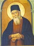 Φορητή εικόνα του Αγίου Μακαρίου του Νοταρά στην Ιερά Μονή Γενεσίου Θεοτόκου Ζούρβας Ύδρας