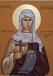Αγία Θωμαΐς από την Λέσβο - Λυδία Γουριώτη© (http://lydiagourioti-iconography.blogspot.com)