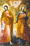 Άγιοι Ιάσονας και Σωσίπατρος οι Απόστολοι - Φορητή εικόνα του Σπυρίδωνος Σπεράντζα