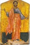 Άγιος Ιάσων ο Απόστολος - Φορητή εικόνα του 1649 μ.Χ. του Εμμανουήλ Τζάνε στον Ιερό Ναό Αγίων Ιάσονος και Σωσιπάτρου Κερκύρας