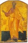 Άγιος Σωσίπατρος ο Απόστολος - Φορητή εικόνα του 1649 μ.Χ. του Εμμανουήλ Τζάνε στον Ιερό Ναό Αγίων Ιάσονος και Σωσιπάτρου Κερκύρας
