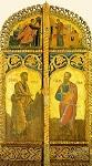 Απόστολοι Πέτρος και Παύλος (Bημόθυρα) - 16ος αι. μ.Χ. - Mονή Aγίου Παύλου, Άγιον Όρος
