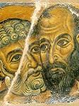 Ασπασμός Πέτρου και Παύλου - γύρω στα 1170-1180 μ.Χ. - Mονή Bατοπαιδίου, Άγιον Όρος