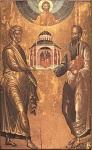 Απόστολοι Πέτρος και Παύλος - 17ος αιώνας μ.Χ. (Η εικόνα προέρχεται από τη Μονή του Σωτήρος της νήσου Πριγκήπου) - Φανάρι, Κωνσταντινούπολη