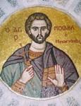 Άγιος Μιχαήλ Πακνανάς ο κηπουρός - Ψηφιδωτή τοιχογραφία που βρίσκεται στον Ιερό Ναό Αγίου Ανδρέου Δήμου Αγίας Παρασκευής Αττικής