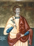 Άγιος Μιχαήλ Πακνανάς ο κηπουρός - Φορητή εικόνα που βρίσκεται στον Ιερό Ναό Αναλήψεως Κυρίου Ν. Κόσμου Αθηνών.