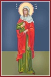 Αγία Κυριακή η Μεγαλομάρτυς - Καζακίδου Μαρία© (byzantineartkazakidou. blogspot.com)