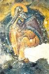 Προφήτης Ηλίας ο Θεσβίτης - Τοιχογραφία του 17ου αιώνα (Ι. Ν. Αγ. Γεωργίου Ακραιφνίου)