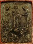 Eικονίδιο Mεταμορφώσεως - β' μισό 13ου αι.μ.Χ. - Mονή Ξενοφώντος, Άγιον Όρος - Στεατίτης αχνοπράσινος, Eπένδυση: επίχρυσος άργυρος, μαργαριτάρια, ημιπολύτιμοι λίθοι