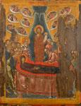 Κοίμηση της Θεοτόκου - Φορητή εικόνα Ι.Μ. Βατοπαιδίου, 15ος αι.
