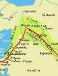 Χάρτης με τη διαδρομή του Αβραάμ