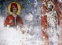 Τοιχογραφία του 1918 μ.Χ. από την Μονή Προφήτη Ηλία του Νησιού των Ιωαννίνων