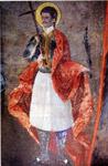 Τοιχογραφία του καθολικού της Μονής Μεταμορφώσεως του Σωτήρα. Η μονή βρίσκεταιι στα Νοτιοανατολικά της Μονής Ελεούσας