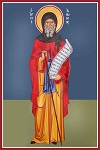 Άγιος Αντώνιος ο Μέγας - Καζακίδου Μαρία© (byzantineartkazakidou. blogspot.com)