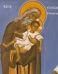 Δίκαιος Συμεών ο Θεοδόχος - Ι. Ν. Οσίων Παρθενίου και Ευμενίου των εν Κουδουμά, δια χειρός Παναγιώτη Μόσχου (2006 μ.Χ.)
