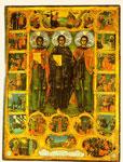 Άγιοι Ακάκιος ο Οσιομάρτυρας από το Νεοχώρι Θεσσαλονίκης, Ευθύμιος ο Πελοποννήσιος και Ιγνάτιος ο νέος Οσιομάρτυρας