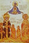 Πορτραίτο του Εμμανουήλ Β΄του Παλαιολόγου με τη σύζυγό του Ελένη (Αγία Υπομονή) και δύο τους τέκνα