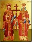 Άγιοι Κωνσταντίνος και Ελένη οι Ισαπόστολοι - Γεωργία Δαμικούκα© (http://www.tempera.gr)