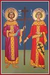 Άγιοι Κωνσταντίνος και Ελένη οι Ισαπόστολοι - Καζακίδου Μαρία© (byzantineartkazakidou. blogspot.com)