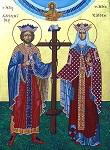 Άγιοι Κωνσταντίνος και Ελένη οι Ισαπόστολοι - Π. Κούβαρη και Ι. Χ. Θωμάς© (icones.gr)