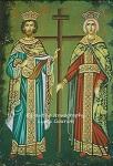 Άγιοι Κωνσταντίνος και Ελένη οι Ισαπόστολοι - Λυδία Γουριώτη© (lydiagourioti-iconography.blogspot.com)