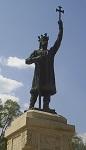 Άγαλμα του Αγίου Στεφάνυ της Μολδαβίας στην πρωτεύουσα της Μολδαβίας Κισινάου