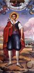 Άγιος Θεόφιλος ο Νεομάρτυρας από τη Ζάκυνθο - Τοιχογραφία Ι. Μ. Στροφάδων και Αγίου Διονυσίου Ζακύνθου. Έργο Ιωάννου Τσολάκου.