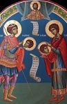 Άγιος Παντελεήμων ο Ιαματικός και Άγιος Γεώργιος ο Τροπαιοφόρος